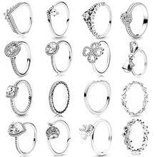 Новая мода Любовь полый циркон кольцо для женщин Серебряный бант Любовь Дерево палец кольцо для пары обручальное свадебное ювелирное изделие подарок