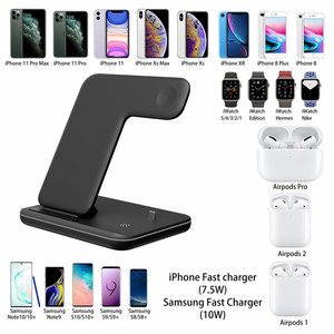 Image 5 - Universal 15W Qi Wireless Charger For iPhone 12 XR 8 Samsung Quick Charge Fast Charger Dock Stand For Apple Watch 5 4 3 Airpods