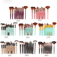 Maange 18 Pcs Makeup Brush Set Met Waaiervormige Beauty Tools Hot(China)