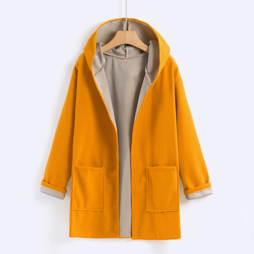Fahion Women's Coats Jacket Medium Long Large Size Loose Casual Cotton Front Open Coats winter ladies Blouse Tops Outwear 2020