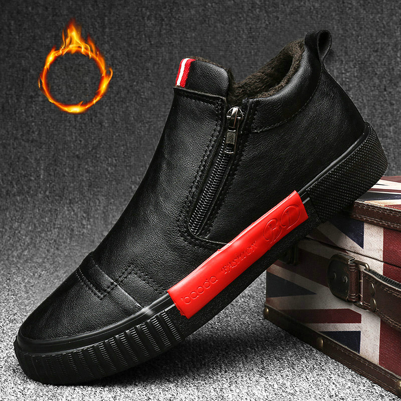 Fashion Low Male Snow Winter Sneaker Slip On Men's Casual Shoes Winter Outdoor Waterproof Warm Sneakers Non-slip Rubber A22-13
