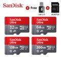 Карта памяти Sandisk Ultra для телефонов, карты памяти Micro SD, SD, TF, 16 Гб, 32 Гб, 64 Гб, 128 Гб, 256 Гб, 400 Гб