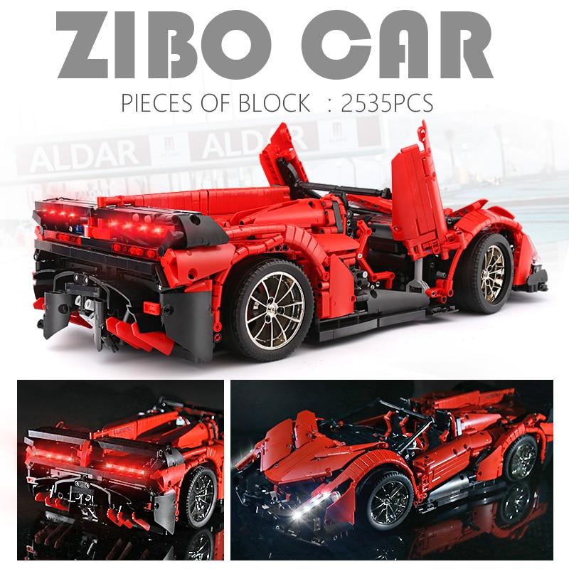 MOULD KING 13079 The MOC-10559 APP RC Veneno Roadster Car 20091 Building Blocks
