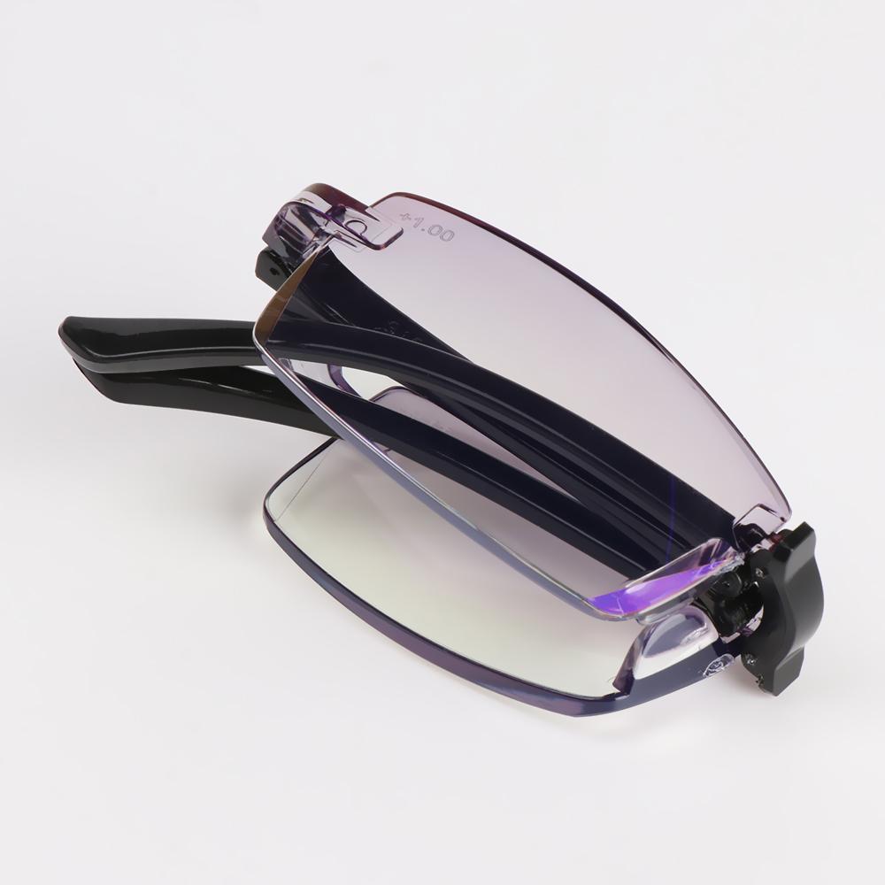 New Folding Reading Glasses With Case Women Men Blue Light Blocking Presbyopic Eyeglasses Computer Eyewear  +100~+400