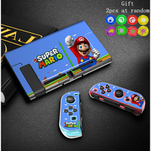 Coque de étui rigide Marios anti empreintes digitales pour Nintendoswitch NS accessoires de protection de jeu Console et capuchons de pouce