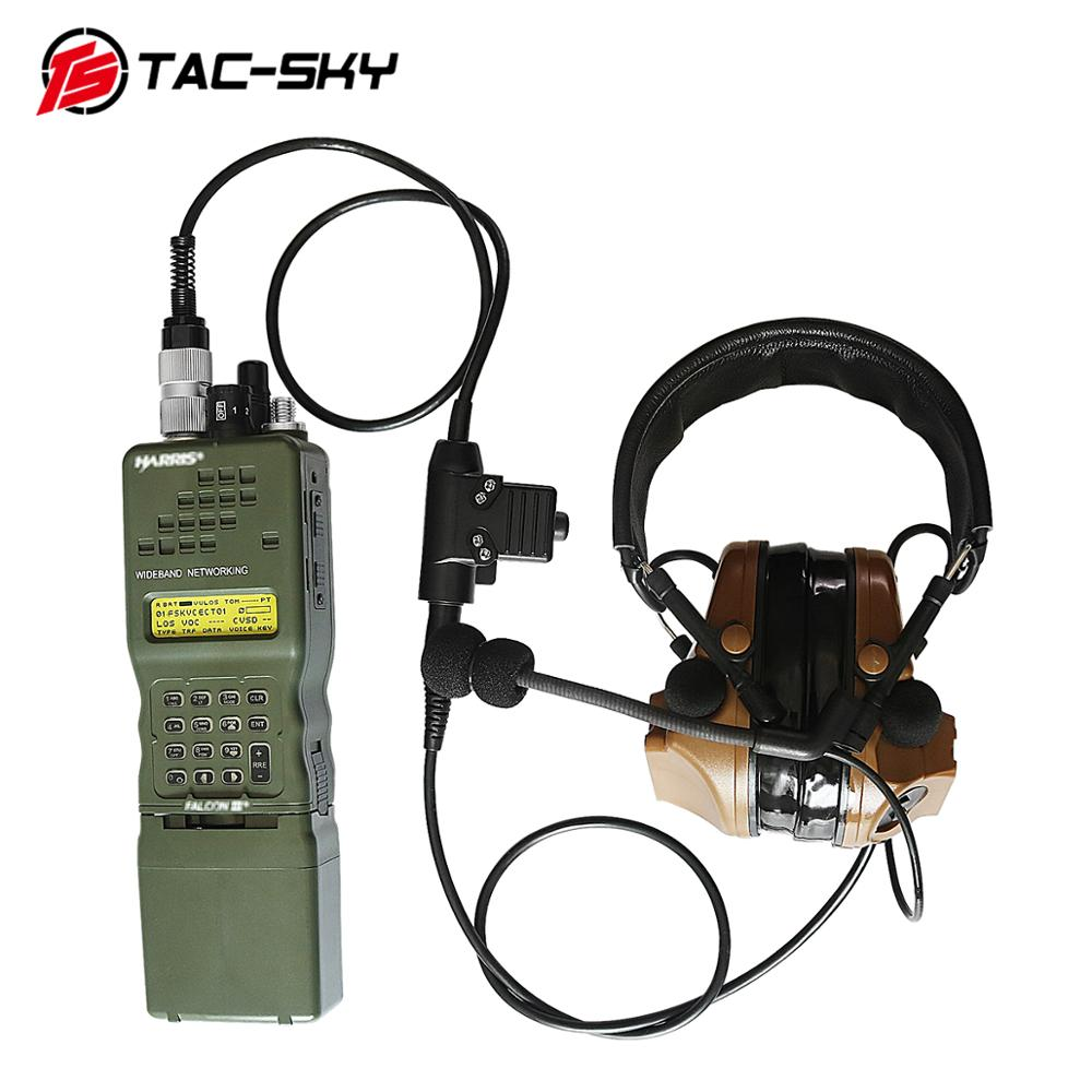 Купить с кэшбэком TAC-SKY U94 PTT 6-pin tactical headset PTT 6-pin u94 ptt for AN / PRC 152 152a 148 simulation model military radio virtual box