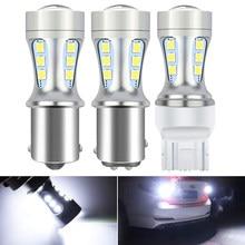 Uds lámpara LED reverso DRL luz BA15S 1156 bombilla VW POLO para Volkswagen Passat B7 B6 CC Golf Tiguan 1157 BAY15D T15 W16W 12V 12V