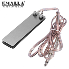Hot Sale Mini Stainless Steel Tattoo Foot Pedal Switch Controller for Tattoo Power Supply Machine Supplies bjt tattoo foot switch tattoo power supply foot pedal stainless steel golden blue wire color