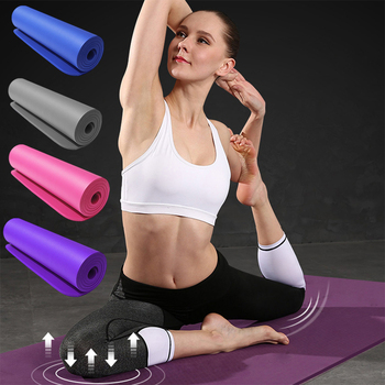 10mm  thick Pad 183*61cm Non-slip yoga Mat For Beginner Fitness Sports Gymnastics Mats NBR  Gym Fitness Pilates Pads With Strap 1