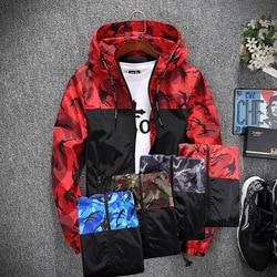 Men Casual Slim Hip Hop Hoody Jackets Outwear Plus Size M-5XL Men/women Spring Unisex Camouflage Hoodies Coats