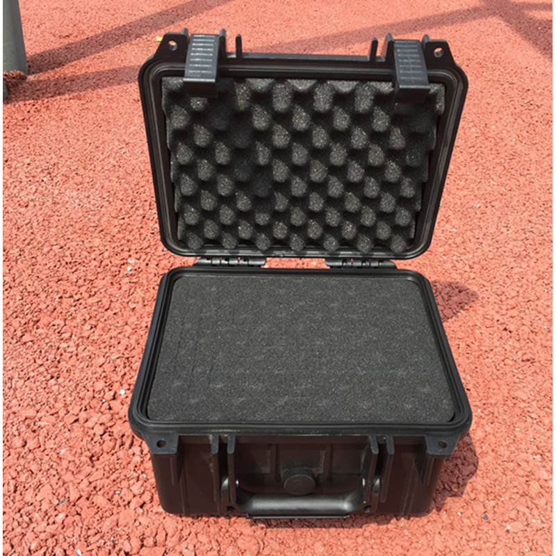 240 * 185 * 105MM veekindla tööriistakasti tööriistakast Kaamera korpus Instrumendiboksi kohver Löögikindel, eelnevalt lõigatud vahtvoodriga suletud