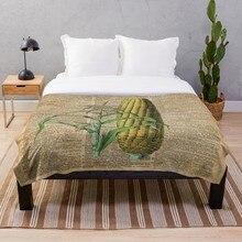 Dropshipping manta impresa Sherpa manta suave de franela manta decoración del hogar para la cama maíz verdura Vintage Dictio