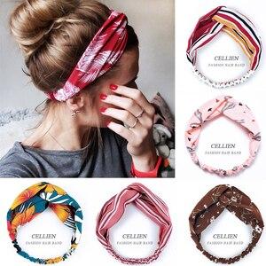 2020 NEW Hair Accessories for Women Girls Hair Bands Print Headbands Vintage Cross Turban Scarf Bandage повязка на голову DS02