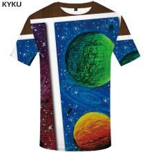 3d Tshirt Galaxy Space T-shirt Men Cartoon Funny T shirts Psychedelic Shirt Print Colorful T-shirts Harajuku Printed