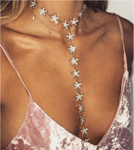 Boho Star Choker Necklace for Women Vintage Long Chain Pendant Necklace Statement Necklace Wedding Jewelry 2020 Women Jewelry(China)