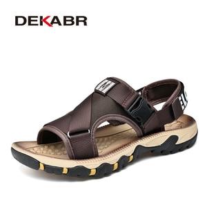 Image 5 - DEKABRฤดูใบไม้ผลิฤดูร้อนผู้ชายรองเท้าแตะคุณภาพสูงสบายๆรองเท้าคุณภาพดีออกแบบOutdoor Beachรองเท้าแตะสไตล์โรมันน้ำรองเท้าผ้าใบ