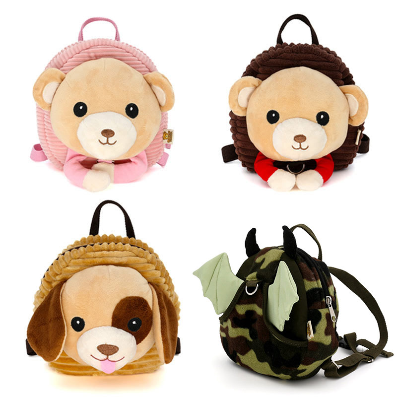Anti-lost Children Backpack Cute Cartoon Animal Plush Backpack With 100cm Traction Rope Infant Baby Safety Harness Walker Strap