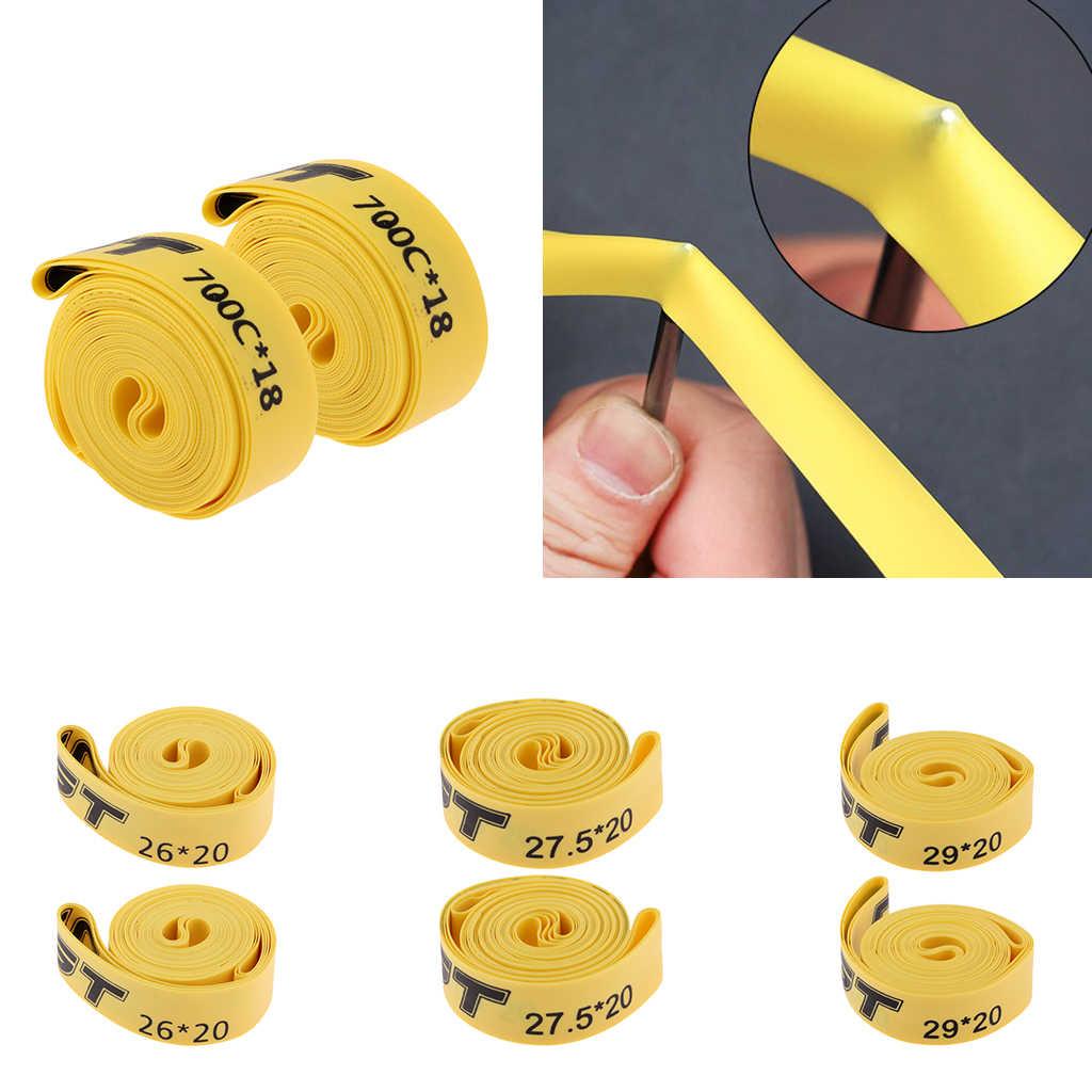 2 pièces vtt VTT pneus ceinture anti-crevaison 26/27.5/29 pouces 700C pneu Tube Liner Protection Pad cyclisme pièces de vélo