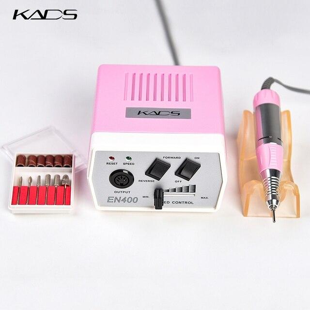 KADS 30000RPM Electric Nail Drill Macchina di Pedicure Trapano Maniglia Nail Drill Bits Set Trapano Nero Della Penna del Manicure Macchine Utensili