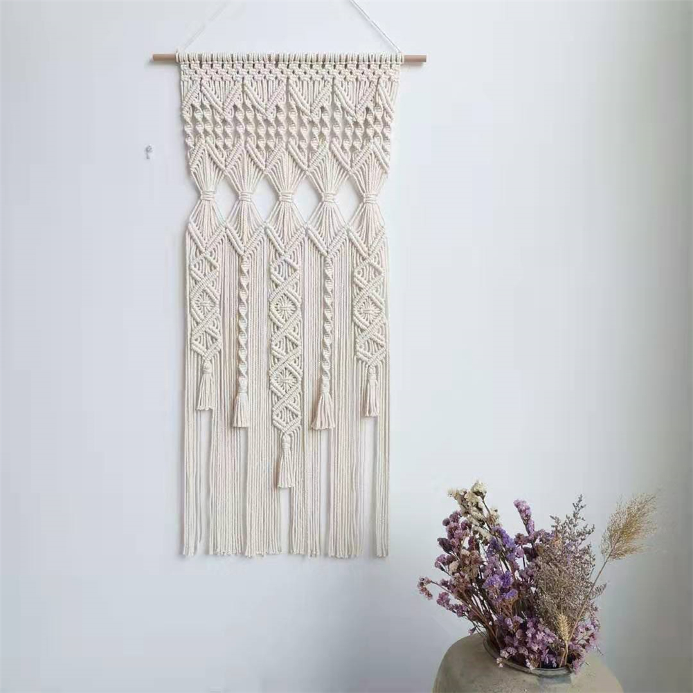 Bohemian Handwoven Tapestry Wall Hanging Tapestry Wall Art Decor Rope Boho Ornament For House Apartment Dorm Bedroom Wedding