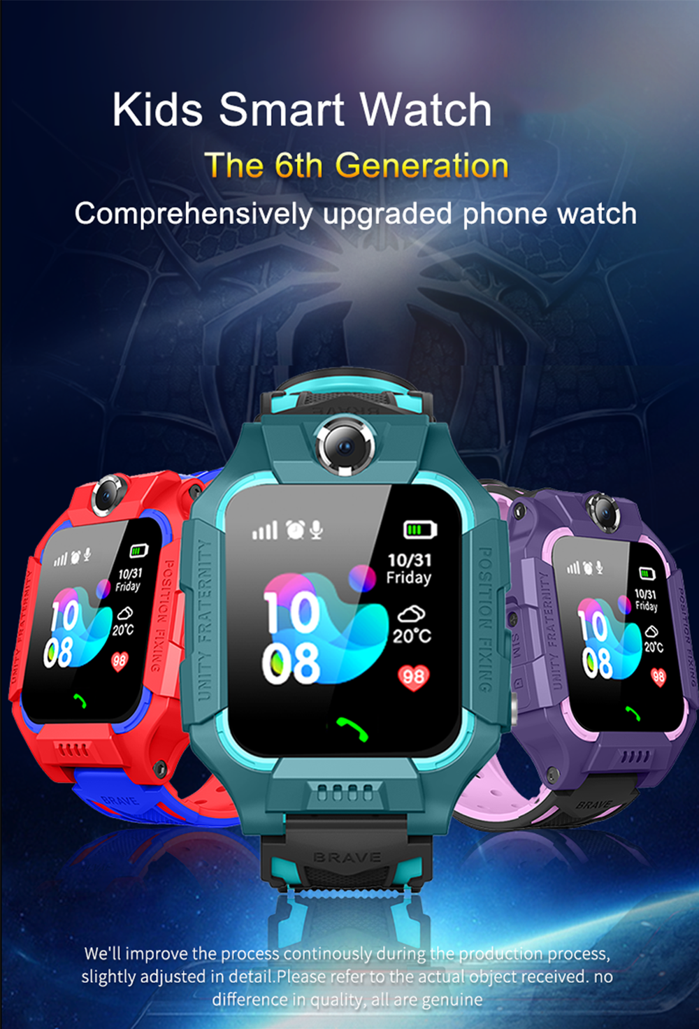 Dual Camera Smart Watch Kids SOS Baby Smart Watch Children Anti Lost Location LBS Positioning Smartwatch Tracker PK Q50 Q90