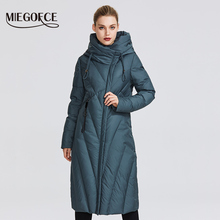 MIEGOFCE 2019 New Collection Women Coat With a Resistant Windproof Collar Women Parka Very Stylish Women #8217 s Winter Jacket cheap Office Lady Ages 35-45 Years Old zipper D99266 Full COTTON Polyester Sustans Thick (Winter) Woven Slim Solid X-Long 1 37KG