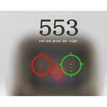 Mira óptica para caza, 551, 552, 553, 558, punto rojo verde, reflejo, lupa 3x