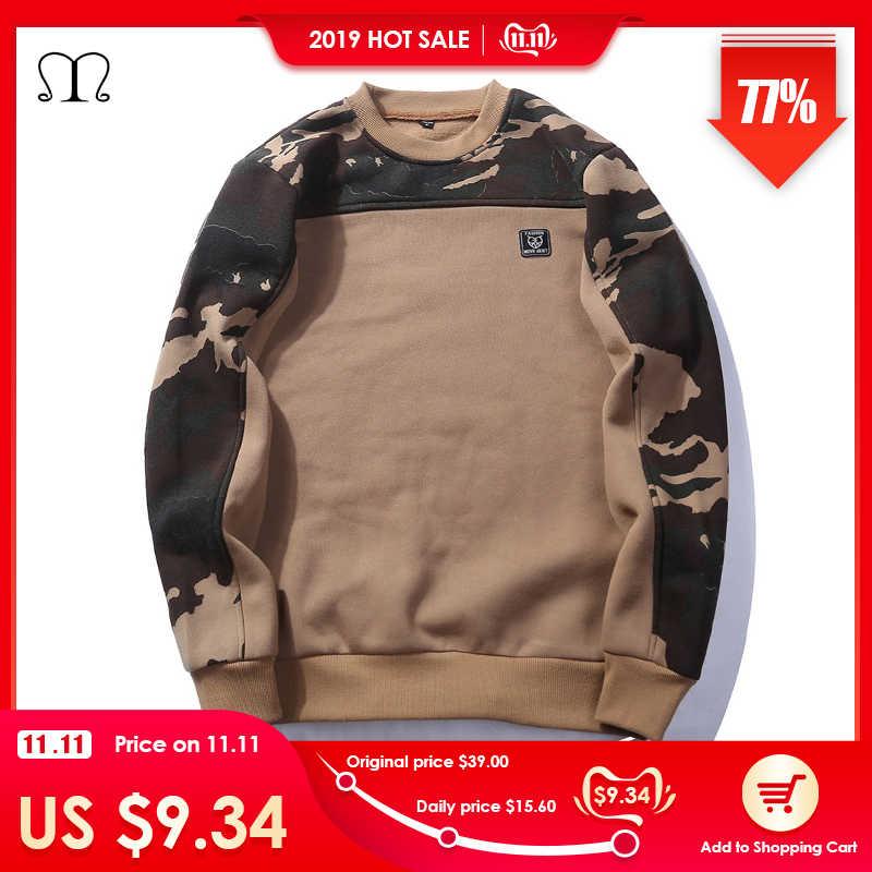 USA tamaño hebilla lateral cinta camuflaje Hoodies 2019 hombres Hip Hop Casual Camo Pullover sudaderas con capucha moda masculina Streetwear