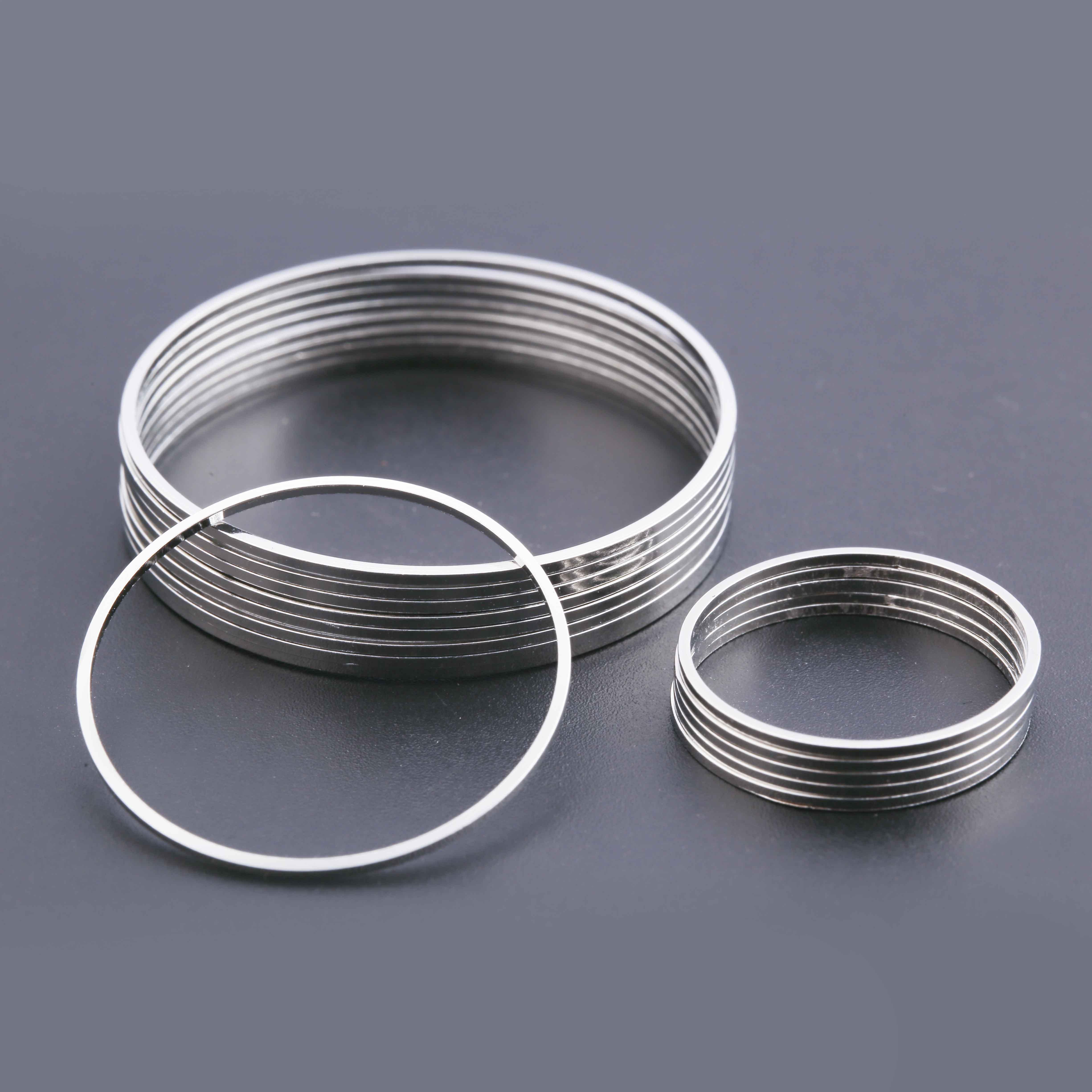 30PCS Stainless Steel Wine Glass Charm Rings Earrings Hoops Jewelry Making 35mm