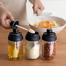 Glass Seasoning Jars Salt And Pepper Storage Jars Oil Brush Jars Honey Jars Spice Storage Jars Creative Kitchen Supplies