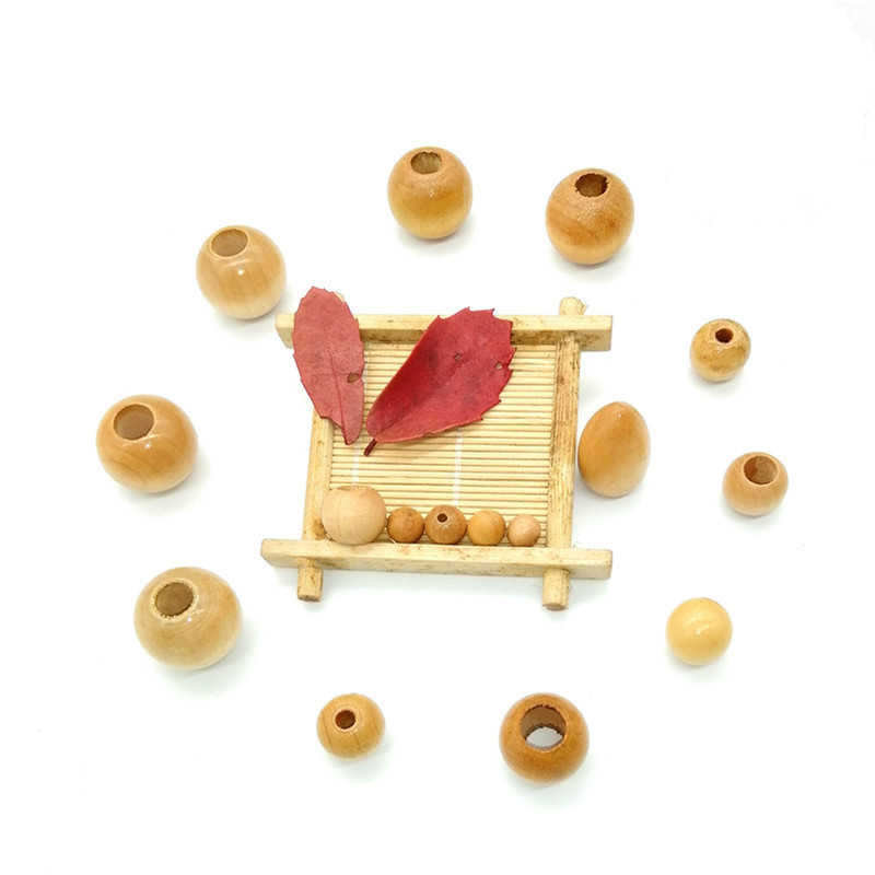 10pcs/lot DIY wood craft decoration beads, wooden balls, wooden loose beads, round wooden