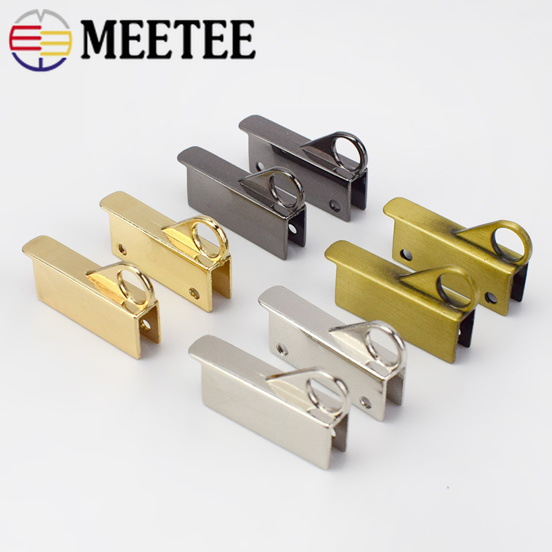2 5pairs High Quality Bag Side Clip Metal Buckles Screw Handbag Strap Handles Connector Hooks Bag Hanger Clasp DIY Leather Craft in Buckles Hooks from Home Garden