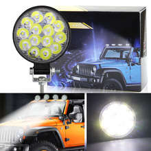 NEW Car LED Work Light MINI 42W 14LED SMD OffRoad for Truck SUV/ATV Waterproof Flood Search Lamp 6500K Middle 9-30V
