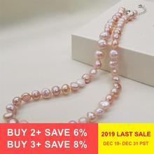 DAIMI ожерелье из натурального пресноводного жемчуга, классический стиль, черное/белое/розовое/фиолетовое жемчужное ожерелье для женщин