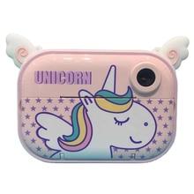 BRAWO Children Gift Photo Recorder For Kids Toy Video Picture Cute Cartoon Animals Flamingo Unicorn Print Instant Camera