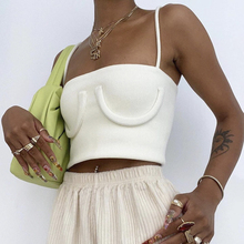Strap Vest Tie-Tops Solid-Clothes Backless Woman Ladies Skinny Sexy Fashion Summer Short