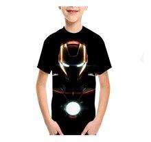 LBG new 3D printing hero Iron Man childrens T-shirt fashion youth casual boy girl Sweatshirt baby shirt