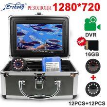 Videocamera subacquea Erchang HD 1280*720P registrazione Video con Blacklight 12pcs infrarossi 12pcs lampada bianca per ghiaccio/mare