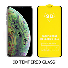 9D Screen Protector For iPhone 11 Pro MAX 2019 X XS MAX XR 7 8 Plus 6 6S Plus 5 5S SE Full Cover Tempered Glass Protective 9H 2 5d 9h tempered glass screen protector for iphone 6 6s 7 8 plus se 4s 5s xr xs max 11 pro max film glass screen protector