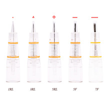 Disposable Permanent Makeup Cartridge Nano 1/3/5RL 5/7F Needles  Eyebrow Tattoo Needle for Permanent Makeup Pen Machine