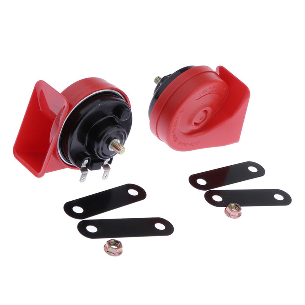 1 PAIR 12V Snail Siren Horn Speaker- Waterproof Electric Snail Horn Air Horn For Motorcross Scooter ATV