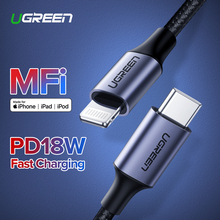 Ugreen MFi USB C to Lightning Cable for iPhone 11 Pro XS Max X 8 18W PD Fast Charger Data Cable for Macbook iPad Pro USB C Cord цены