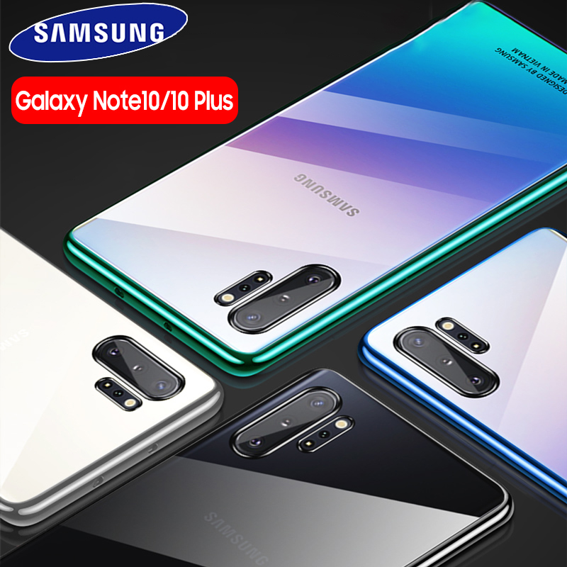 Samsung Note 10 Plus Case Original Clear Hard Cover Transparent PC Plating SAMSUNG Galaxy Note 10 Plus 5G Note10 Pro Back Case