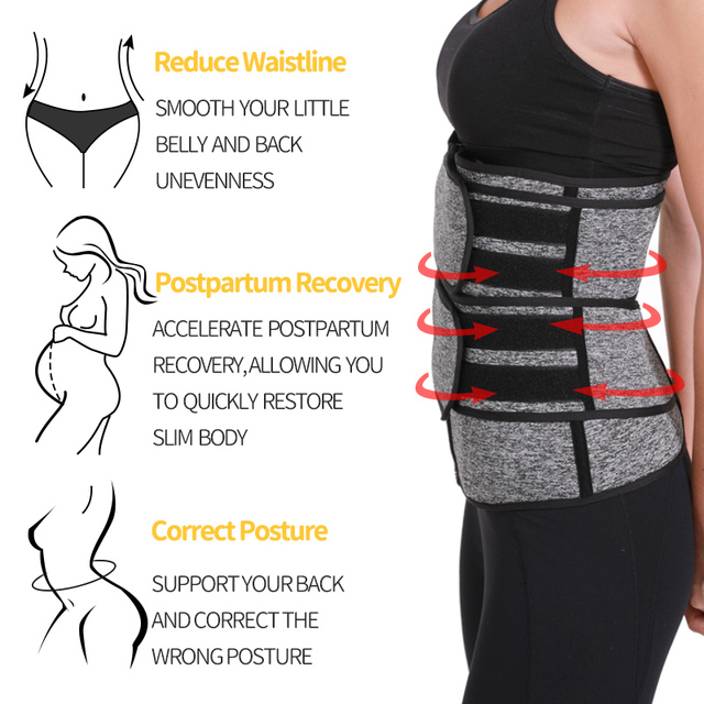 Waist Trainer Reducing Shapers Slimming Trimmer Belt Lumbar Support Neoprene Tummy Shapewear 9 Steel Bones Woman Cincher Corset 4