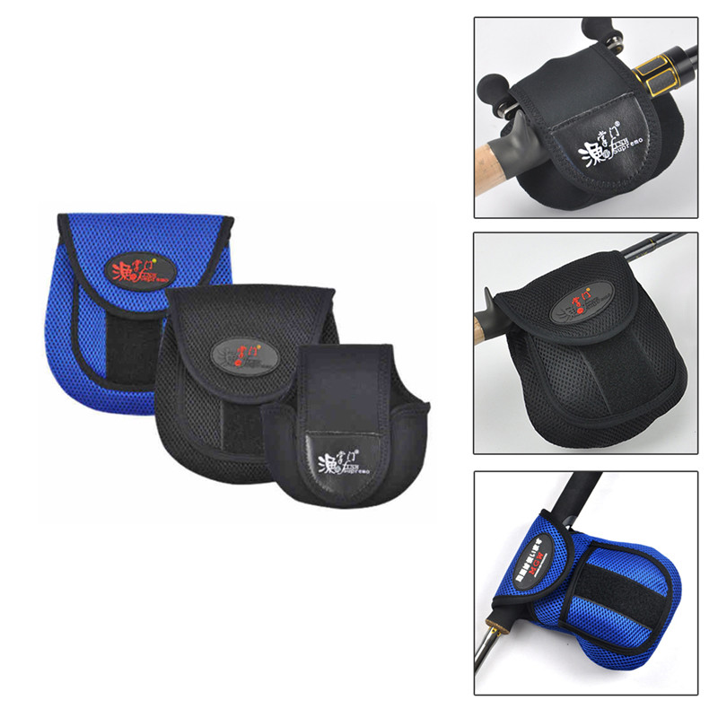 Safety Fly Fishing Reel Case Protector Soft Pocket Cover Bag Pouch Holder Nylon