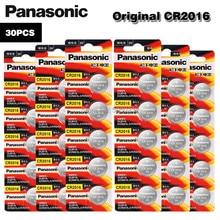 Panasonic cr2016 30 pçs original marca nova bateria para 3v botão pilha moedas baterias para relógio de computador cr 2016 relógio adequado