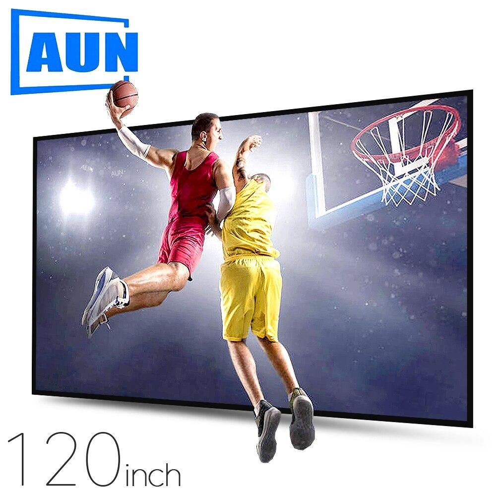 Aun tela de projetor anti-luz 120/100/60 polegadas. 16:9 tela reflexiva cinema em casa, alr tela 4k 1080p projetor led/dlp
