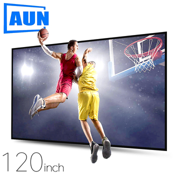 AUN Anti-light Projector Screen 120/100/60 inch. 16:9 Reflective Fabric Home theater, ALR Screen 4K 1080P projector LED/DLP