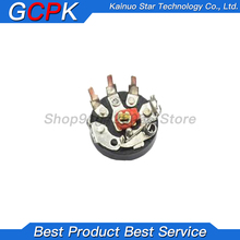 10PCS/LOT Straight Angle Radio Potentiometer RV12MM B103 B503 B10K B50K Power Amplifier Volume Potentiometer With Switch