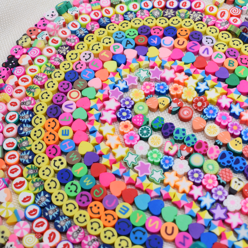 10mm DIY Jewelry Findings Clay Beads Fruits Heart Flower Beads Polymer Clay Beads For Jewelry Making DIY Bracelet Necklace 15